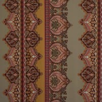 Fabtrends Ity Paisley Stripe Tan Gold