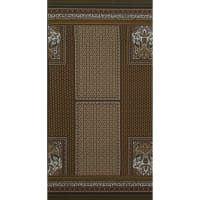 Fabtrends Ity Engineered  Foulard Double Border Olive