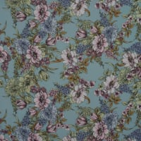 Fabtrends Washer Ghost Crepe Floral Grey Mauve