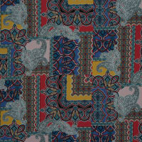 Fabtrends Ity Paisley Tiles Royal Jade