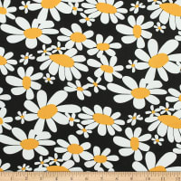 Telio Playday Cotton Poplin Floral Black
