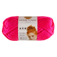 Lion Brand Yarn Hometown USA Yarn Neon Pink