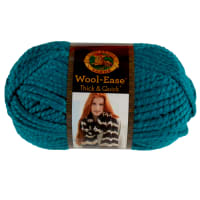 Lion Brand Yarn Wool-Ease Thick & Quick Yarn Peacock