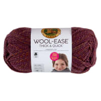 Lion Brand Yarn Wool-Ease Thick & Quick Bonus Bundle Yarn Crushed Violets