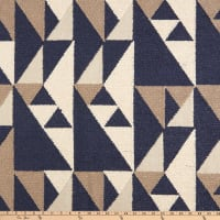 tfa Point of View Embroidered Linen Blue Smoke