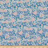 Telio Playday Cotton Poplin Floral Blue