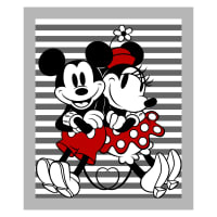 "Disney Mickey And Minnie Stripe 36"" Panel Gray"