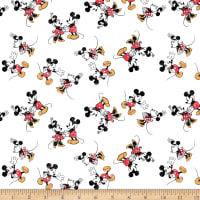 Disney Mickey Minnie Vintage Scattered White