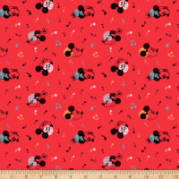 Disney Mickey Minnie Vintage Mouse Music Red