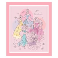 "Disney Princess Pretty Elegant Pretty Princess 36"" Panel Pink"