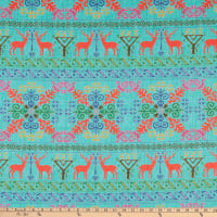Lacefield Designs Christmas Holiday Sweater Linen Turquoise
