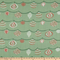 Lacefield Designs Christmas Ornament Linen Sage