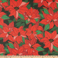 Lacefield Designs Christmas Poinsettia Linen Berry