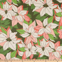Lacefield Designs Christmas Poinsettia Linen Pink