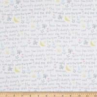 Fabric Editions Playful Cuties 2 Rhymes 1 Yard Flannel Precut White