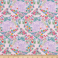 Fabric Editions Never Forget Your Dreams Elephant Hearts 1 Yard Precut Pink