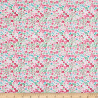 Fabric Editions Never Forget Floral 1 Yard Precut White