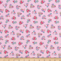 Fabric Editions Never Forget Hearts 1 Yard Precut Pink