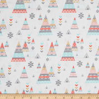 EXCLUSIVE Fabric Editions Aiyana Triangles 1 Yard Precut White