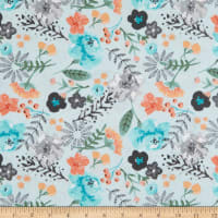 EXCLUSIVE Fabric Editions Aiyana Large Floral 1 Yard Precut Turquoise