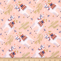 EXCLUSIVE Fabric Editions Aiyana Llama 1 Yard Precut Peach