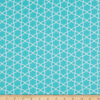EXCLUSIVE Fabric Editions Chirpie Quartre 1 Yard Precut Turquoise
