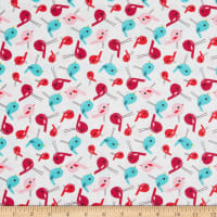 EXCLUSIVE Fabric Editions Chirpie Birdies 1 Yard Precut White