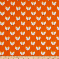 EXCLUSIVE Fabric Editions Forest Friends Fox Face 1 Yard Precut Orange