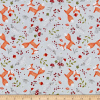 EXCLUSIVE Fabric Editions Forest Friends Toss 1 Yard Precut Gray