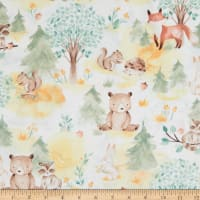 Fabric Editions In the Forest Allover 1 Yard Precut Multi
