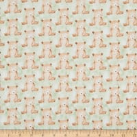 EXCLUSIVE Fabric Editions In the Forest Bears 1 Yard Precut Green