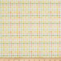 EXCLUSIVE Fabric Editions In the Forest Plaid 1 Yard Precut White