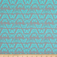EXCLUSIVE Fabric Editions Laceflower Butterflies 1 Yard Precut Gray