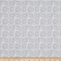 EXCLUSIVE Fabric Editions Laceflower Floral 1 Yard Precut Gray