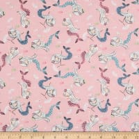 EXCLUSIVE Fabric Editions Mermaid Toss 1 Yard Precut Pink