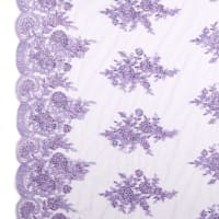 Mesh With Embroidery Lilac