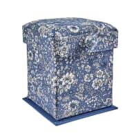 Liberty of London Victorian Style Sewing Box Emily Sihouette Blue