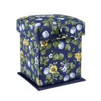 Liberty of London Small Victorian Sewing Box Wild Cherry Blue