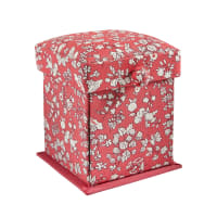 Liberty of London Small Victorian Sewing Box Fruit Sihouette Coral