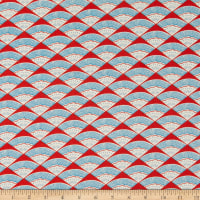 Cotton+Steel Kibori Ougi Unbleached Red