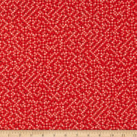 Cotton+Steel Waku Waku Christmas Sequins Unbleached Red