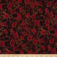 RJR Shades of Autumn Turning Over a New Leaf Metallic Mulberry