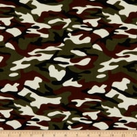 Fabric Merchants 21 Pinwale Corduroy Camouflage Print Grey/Wine/Black