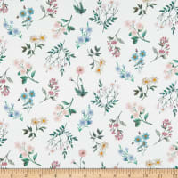 Liberty Fabrics Challis Anneliese Off White/Pink/Green