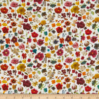 Liberty Fabrics Challis Floral Edit White/Red/Yellow