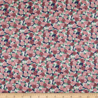 Liberty Fabrics Viscose Stretch Jersey Knit Stone Rose Blue/Pink/Green
