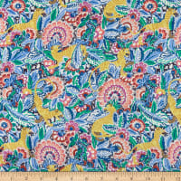 Liberty Fabrics Viscose Satin Prince Milo Blue/Pink/Yellow