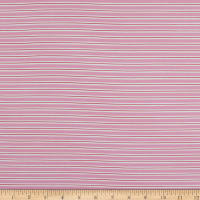 Fabtrends Cotton Jersey Knit Biadere Stripe Rose