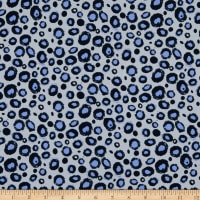 Fabtrends Cotton Jersey Knit Stones Dots  Grey