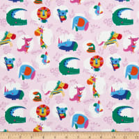 Fabtrends Cotton Stretch Jersey Knit Tropical Jungle Pink